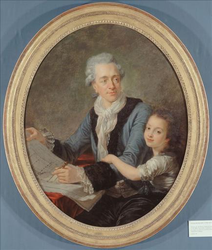 Portrait de Nicolas Ledoux (1736-1806), architecte, avec sa fille Adélaïde_0