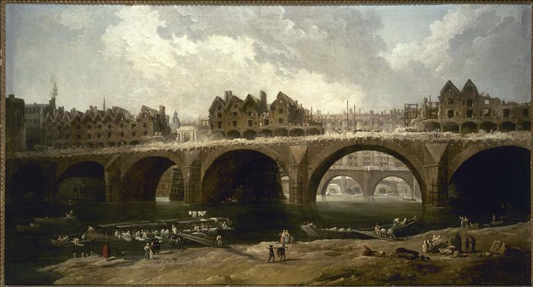 La Démolition des maisons du pont Notre-Dame, en 1786, actuel 4ème arrondissement