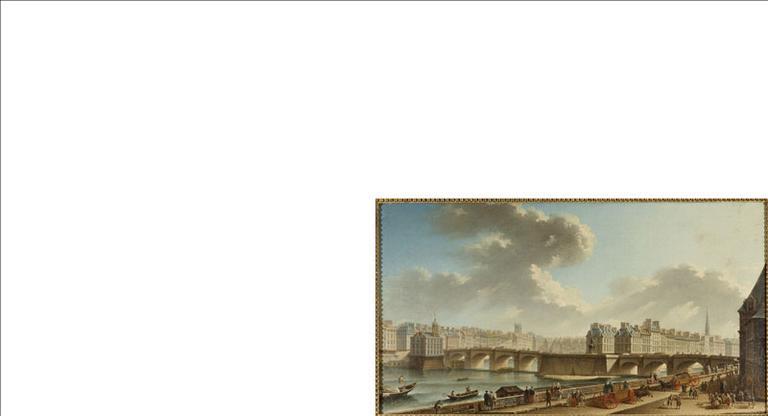 Le Pont-Neuf et la Cité, vus du quai de Conti. Actuels 1er et 6ème arrondissements, Paris_0