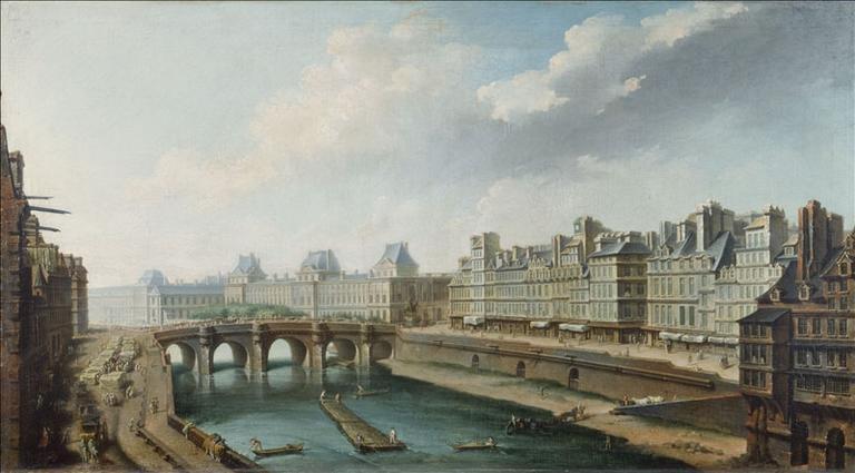 Le Louvre, le Pont-Neuf et le quai des Orfèvres, vus du quai des Grands-Augustins (actuels 1er et 6ème arrondissements)_0