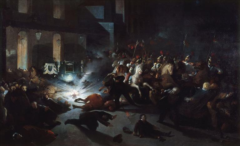 L'attentat de Felice Orsini contre Napoléon III devant la façade de l'Opéra, rue Le Peletier, le 14 janvier 1858 (actuel 9e arrondissement, Paris)_0