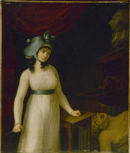 Portrait de Charlotte Corday (1768-1793) au moment où elle vient d'assassiner Marat_0