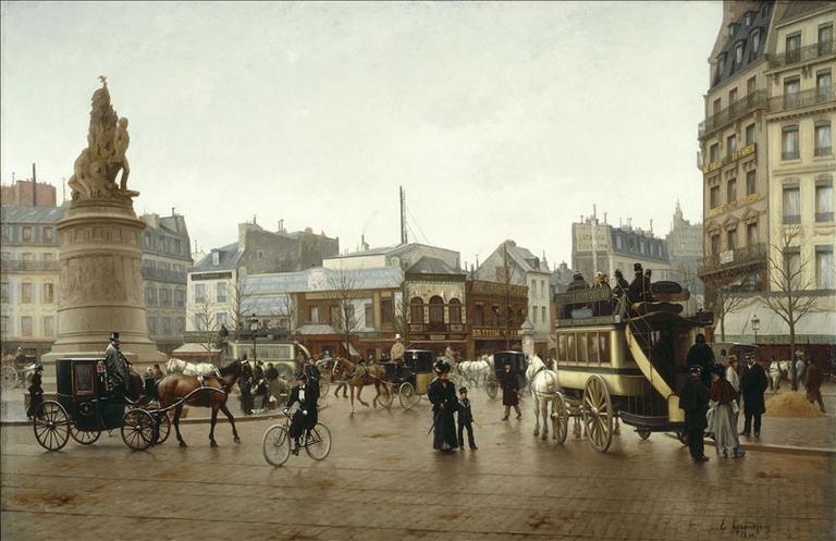 La place Clichy, en 1896 (17ème et 18ème arrondissements)