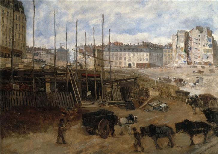 Percement de l'avenue de l'Opéra, en 1878 (1er et 2ème arrondissements, Paris)
