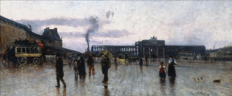 Les ruines des Tuileries et la place du Carroussel (1er arrondissement)_0