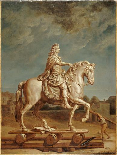 Transport sur la place Louis-le-Grand (actuelle place Vendôme) de la statue de Louis XIV de Girardon_0