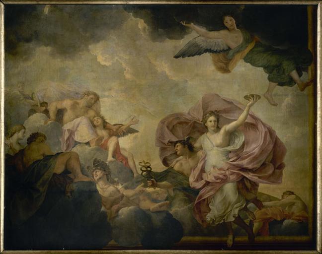 Mercure amène Psyché devant l'assemblée des dieux sur l'Olympe_0