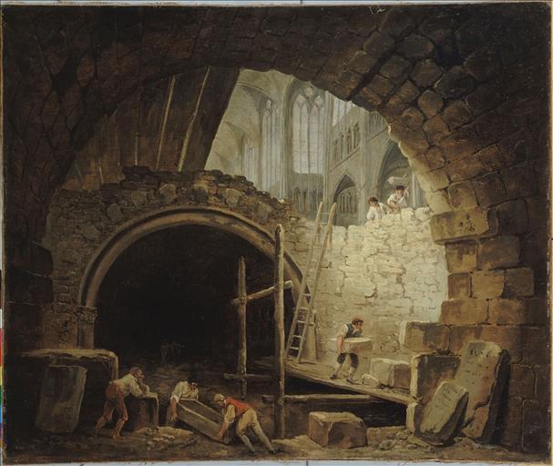 La Violation des caveaux des rois dans la basilique de Saint-Denis, en octobre 1793_0