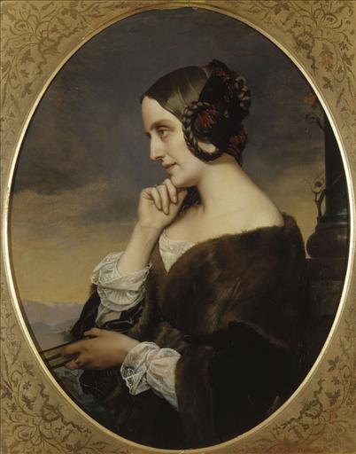 Portrait de Marie de Flavigny, comtesse d'Agoult (1805-1876), écrivain (sous le pseudonyme de Daniel Stern), compagne de Liszt_0