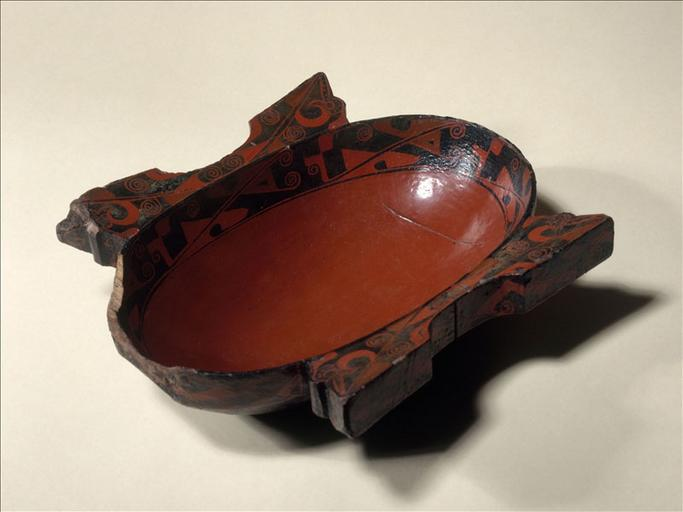 Coupe yushang à oreilles cassées, en bois laqué rouge, Chine, époque des Royaumes Combattants, entre 475 et 221 avant Jésus-Christ_0