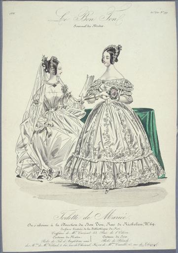 Le Bon Ton, Journal des Modes de 1836, 50ème livraison numéro 99 : Toilette de mariée_0