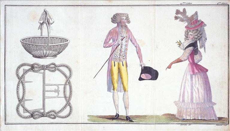 Habits de ville, planches 1, 2, 3, 19ème cahier, 4ème année, 1er juin 1789_0