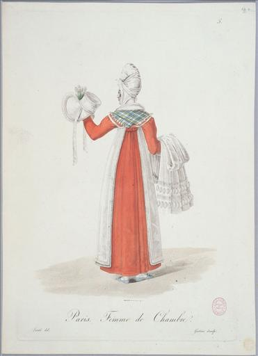 Ouvrières de Paris : femme de chambre (planche 5, vers 1823, Paris)_0