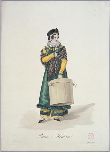 Ouvrières de Paris : Modiste (planche 7, vers 1823, Paris)
