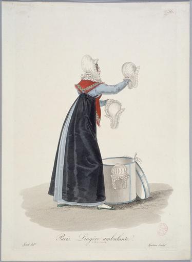 Ouvrières de Paris : lingère ambulante (planche 36, vers 1823, Paris)_0