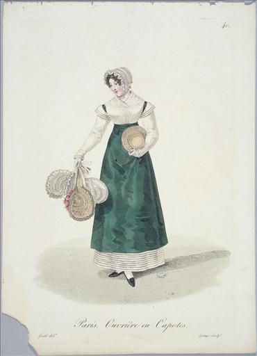 Ouvrières de Paris : ouvrière en capotes (planche 40, vers 1823, Paris)_0