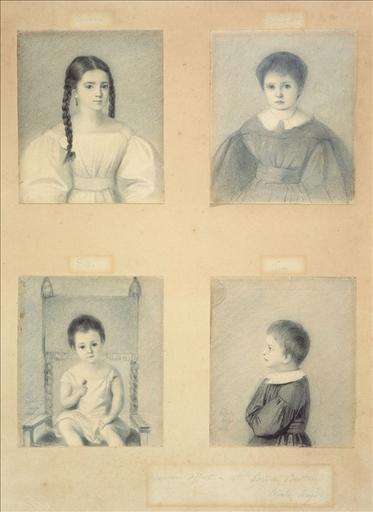 Les enfants : Léopoldine, Charles, François-Victor et Adèle, en 1833_0