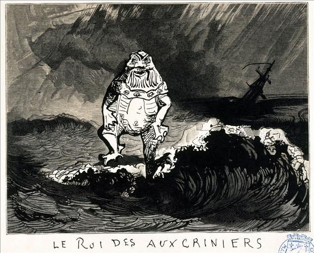 Album de gravures d'après les dessins de Victor Hugo pour Les Travailleurs de la mer : le roi des Auxcriniers (planche 3) - 1882_0