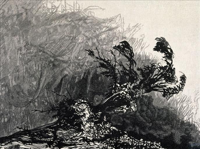 Album de gravures d'après les dessins de Victor Hugo pour Les Travailleurs de la mer : Guernesey, ancienne Chapelle (planche 13) - 1882_0