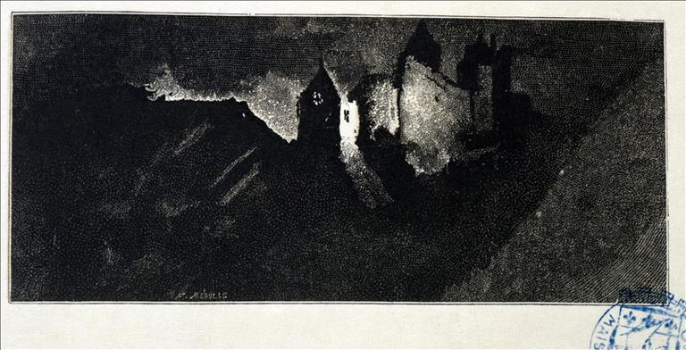 Album de gravures d'après les dessins de Victor Hugo pour les Travailleurs de la mer : le Catel (planche 14) - 1882_0