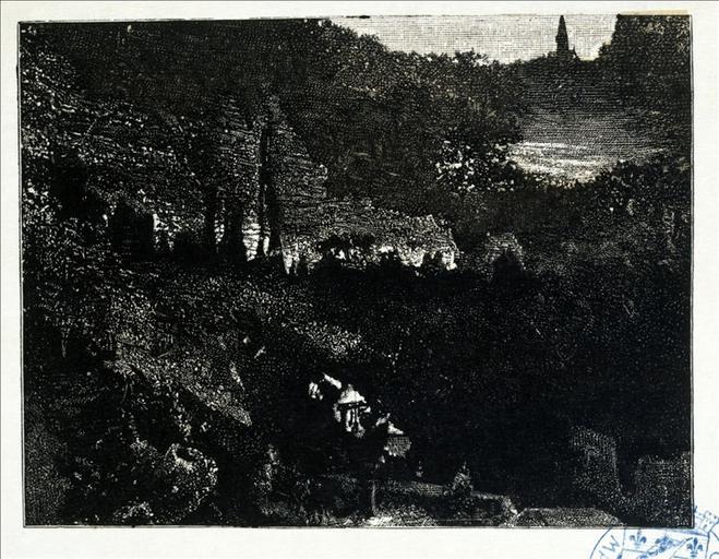 Album de gravures d'après les dessins de Victor Hugo pour les Travailleurs de la mer : Le clocher (planche 18) - 1882_0
