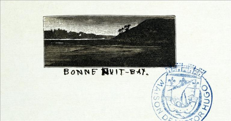 Album de gravures d'après les dessins de Victor Hugo pour les Travailleurs de la mer : Bonne Nuit-Bay (planche 23) - 1882