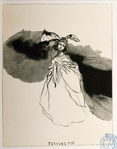 Album de gravures d'après les dessins de Victor Hugo pour Les Travailleurs de la mer : Déruchette (planche 26) - 1882_0