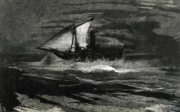 Album de gravures d'après les dessins de Victor Hugo pour Les Travailleurs de la mer : la Durande (planche 27) - 1882_0
