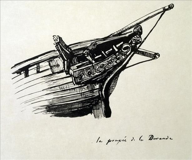Album de gravures d'après les dessins de Victor Hugo pour les Travailleurs de la mer : La poupée de la Durande (planche 31) - 1882