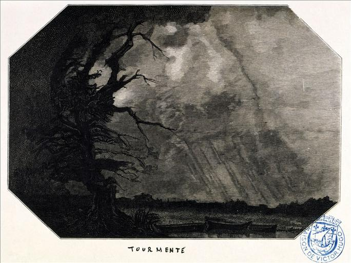 Album de gravures d'après les dessins de Victor Hugo pour Les Travailleurs de la mer : tourmente. (planche 33) - 1882_0