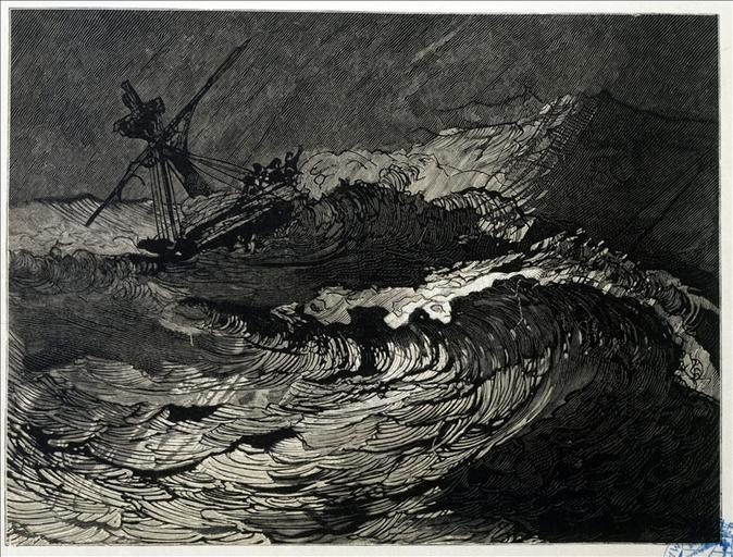 Album de gravures d'après les dessins de Victor Hugo pour les Travailleurs de la mer : Tempête, la dernière lutte (planche 41) - 1882_0