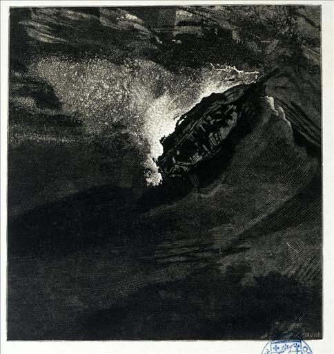 Album de gravures d'après les dessins de Victor Hugo pour les Travailleurs de la mer : Désemparé (planche 49) - 1882