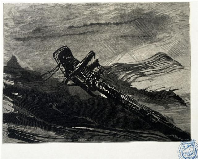 Album de gravures d'après les dessins de Victor Hugo pour les Travailleurs de la mer : l'épave (planche 51) - 1882_0