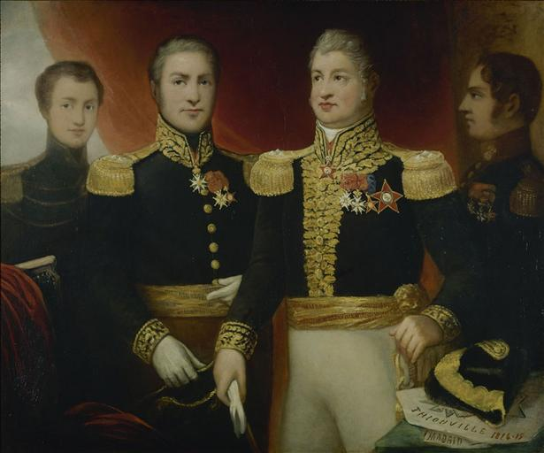 Le Général Léopold Hugo avec deux de ses frères et son fils Abel_0