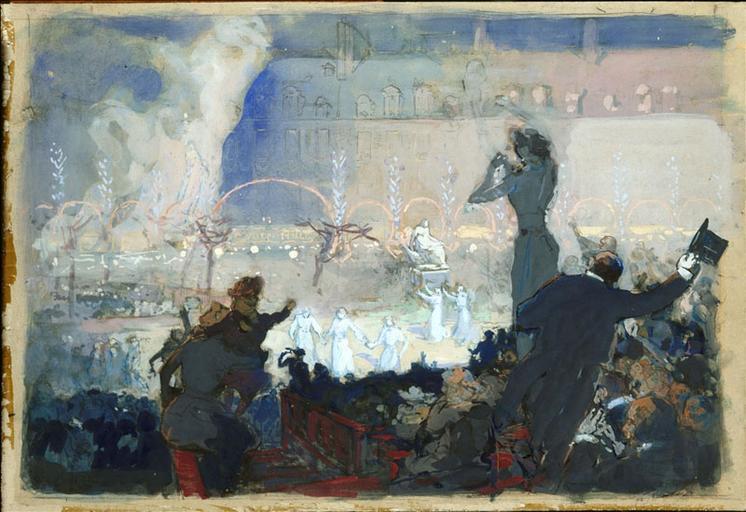 Fête du centenaire de Victor Hugo, place des Vosges, 2 Mars 1902_0