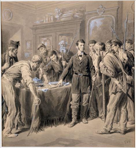 Envahissement de l'appartement de Victor Hugo, place Royale, par les émeutiers de juin 1848_0