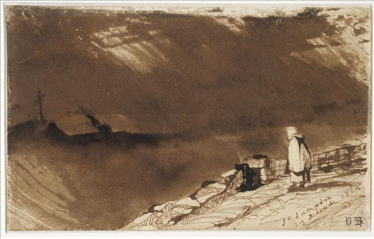 Saint-Sampson ; Femme de pêcheur regardant la tempête (autre titre)_0
