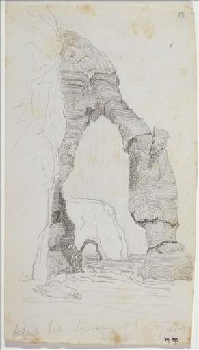 Carnet de voyage 25 juillet-15 août 1835 : Falaise sud. Etretat, 9 août (folio 18) ; # Montereau (folio.1, verso) ; #Péronne. Tour de ville (folio.11)_0