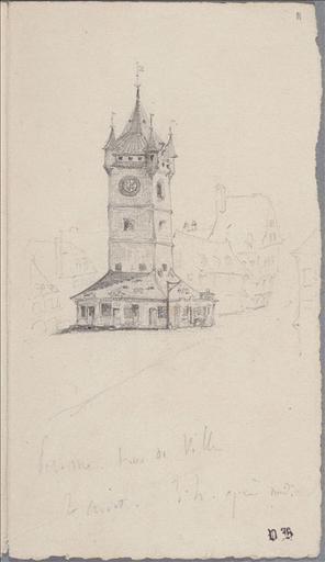 Carnet de voyage 25 juillet-15 août 1835 : Falaise sud. Etretat, 9 août (folio 18) ; # Montereau (folio.1, verso) ; #Péronne. Tour de ville (folio.11)