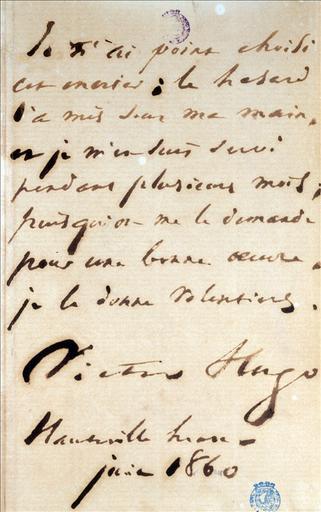 Autographe de la table aux quatre encriers, juin 1860_0