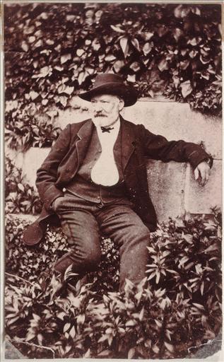 Victor Hugo dans le jardin d'Hauteville House en 1868_0