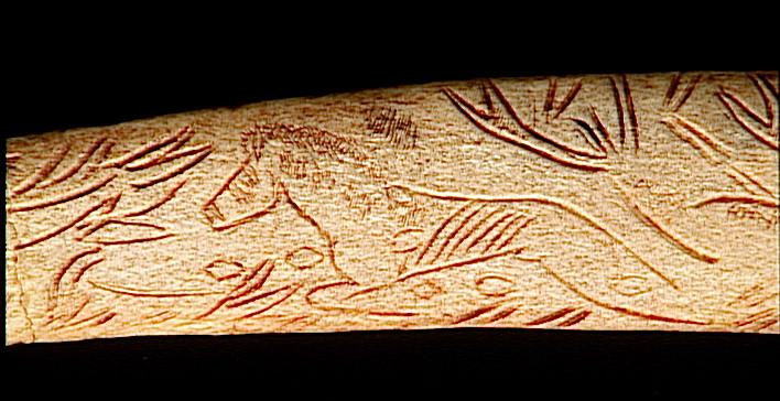 pendeloque, rhombe : La pendeloque au cheval sautant