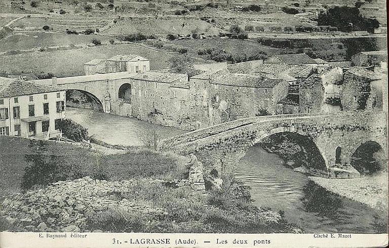 31. - LAGRASSE (Aude). - Les deux ponts_0