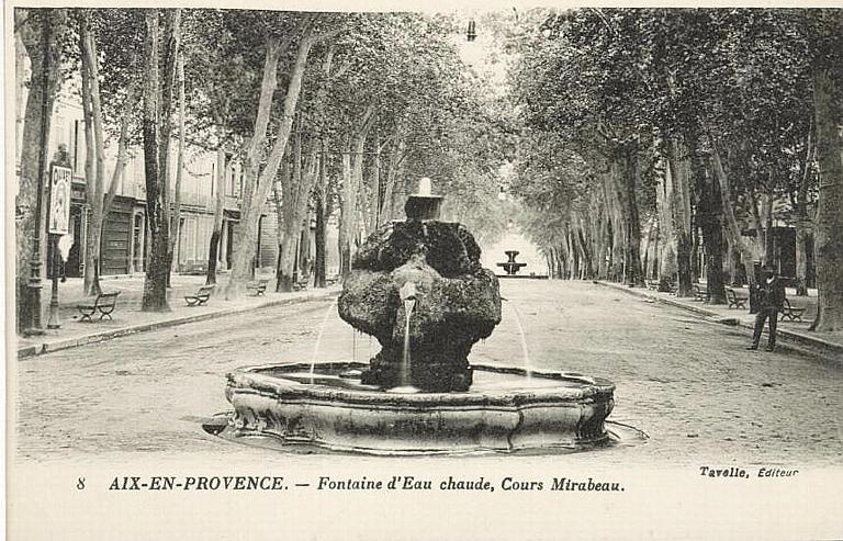 8 AIX-EN-PROVENCE. - Fontaine d'Eau chaude, Cours Mirabeau_0