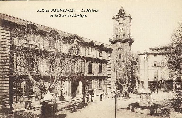 AIX-en-PROVENCE. - La Mairie / et la Tour de l'horloge_0