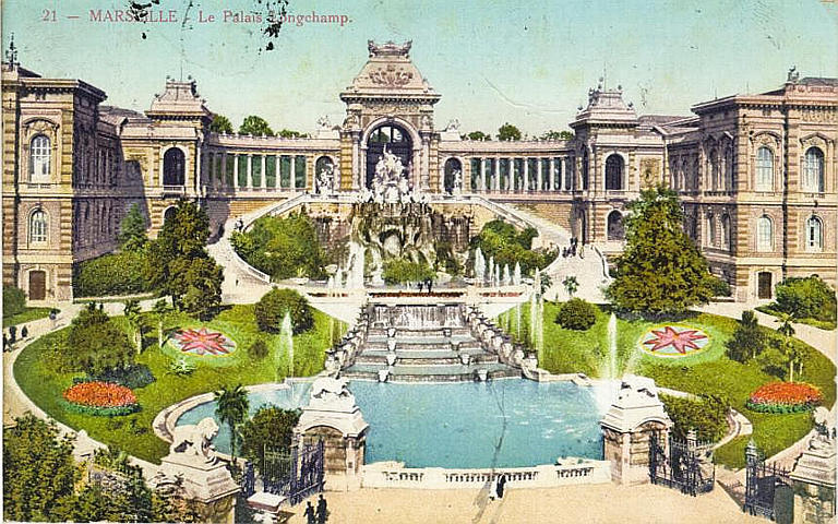 21 - MARSEILLE - Le Palais Longchamp (encre rose)_0