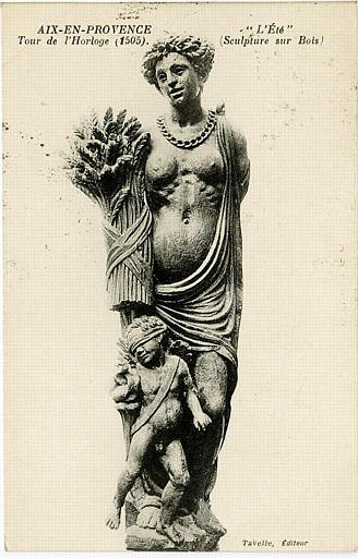 AIX-EN-PROVENCE / Tour de l'Horloge (1505) / 'L'Eté' / (Sculpture sur Bois)_0