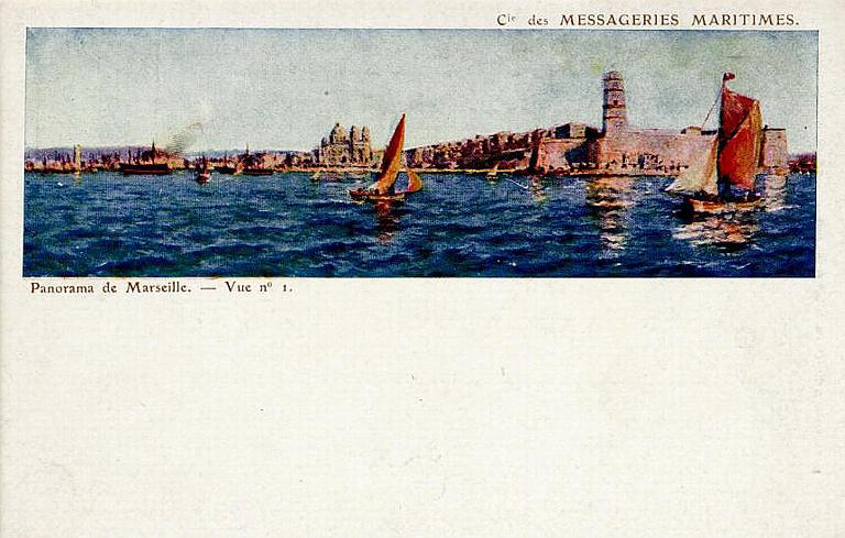 Cie des MESSAGERIES MARITIMES / Panorama de Marseille. - Vue n° 1_0