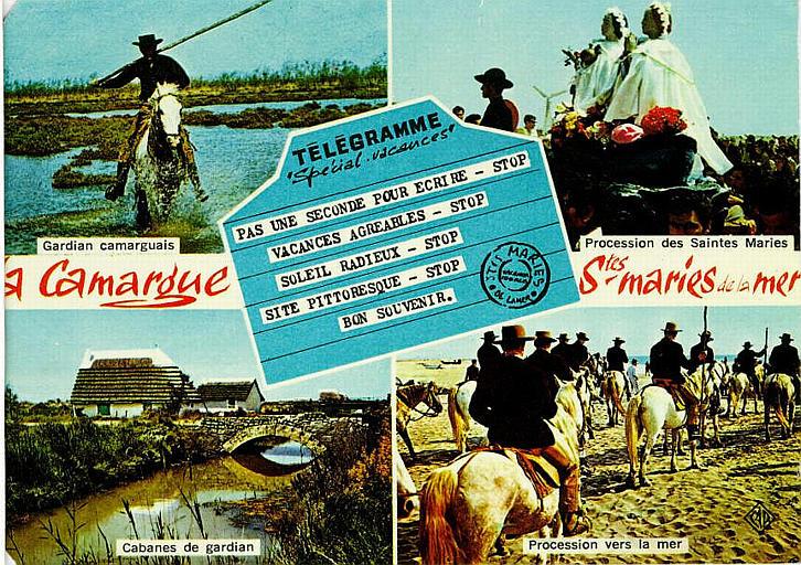 1610 - La Camargue Stes Maries de la mer / TELEGRAME / 'Special Vacances'_0