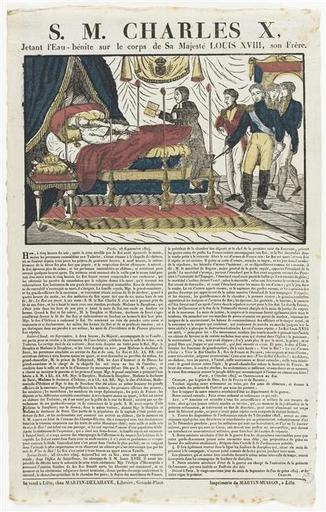 S. M. CHARLES X, / Jetant l'Eau-bénite sur le corps de Sa Majesté LOUIS XVIII, son frère (titre inscrit)_0